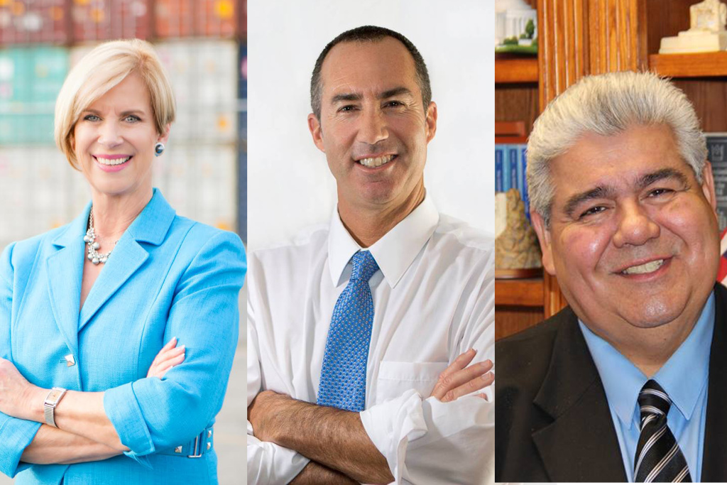 Candidates for the Los Angeles County Board of Supervisors District 4 position: Janice Hahn, Steve Napolitano and Ralph Pacheco.