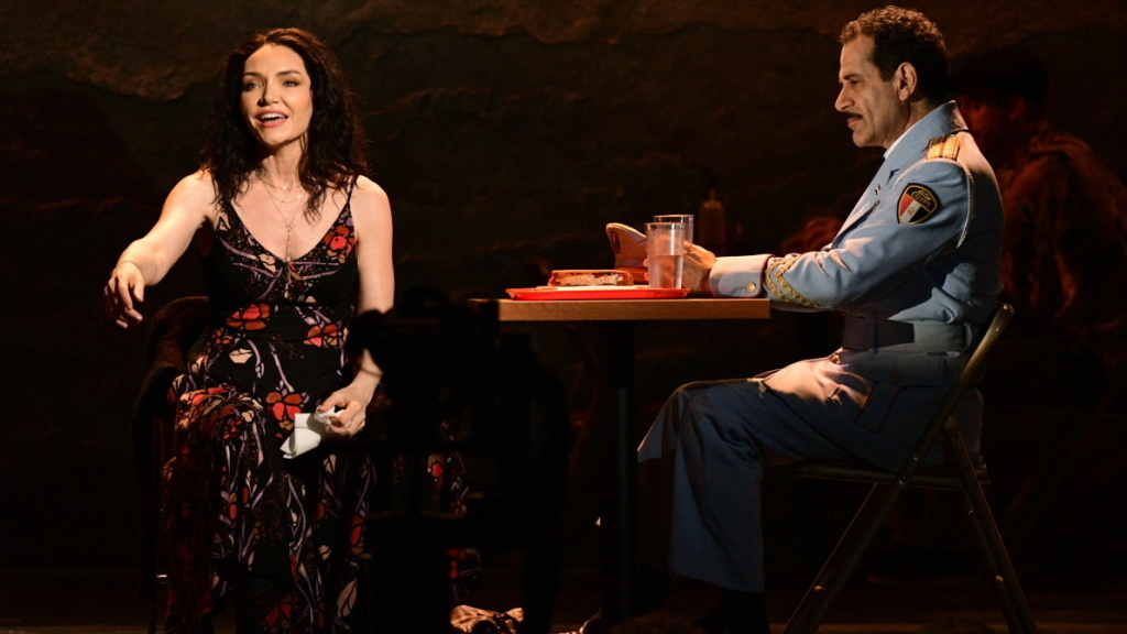 Katrina Lenk and Tony Shalhoub perform