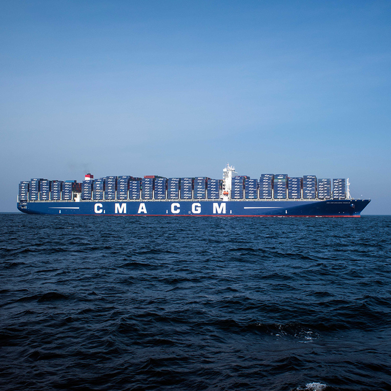 The Ultra Large Cargo Ship Cma Cgm Will Stop At Port Of Los Angeles