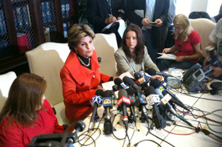 Attorney Gloria Allred accuses Republican gubernatorial candidate Meg Whitman of allegations that she knowingly employed an illegal immigrant for nine years as a housekeeper. Whitman called the accusation part of a smear campaign orchestrated by backers of Democratic candidate Jerry Brown.