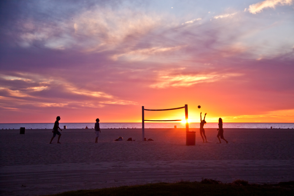 Volleyball on Venice Beach, Nov. 7, 2013.