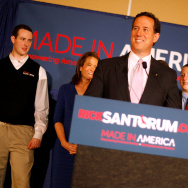 Santorum Holds Primary Night Party And Rally In Louisiana