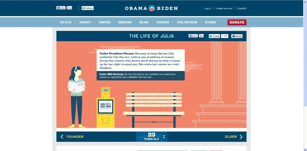A screenshot of the from BarackObama.com shows
