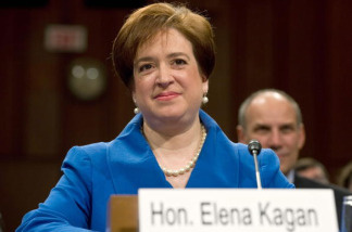 US Supreme Court nominee Elena Kagan appears before the Senate Judiciary Committee for her confirmation hearing on Capitol Hill in Washington,DC on June 28, 2010.