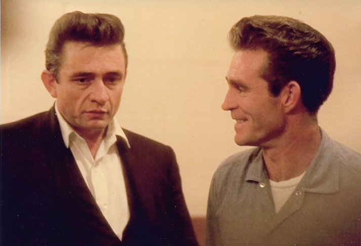 When Johnny Cash, left, performed at Folsom Prison in 1968, he included a song written by inmate Glen Sherley.