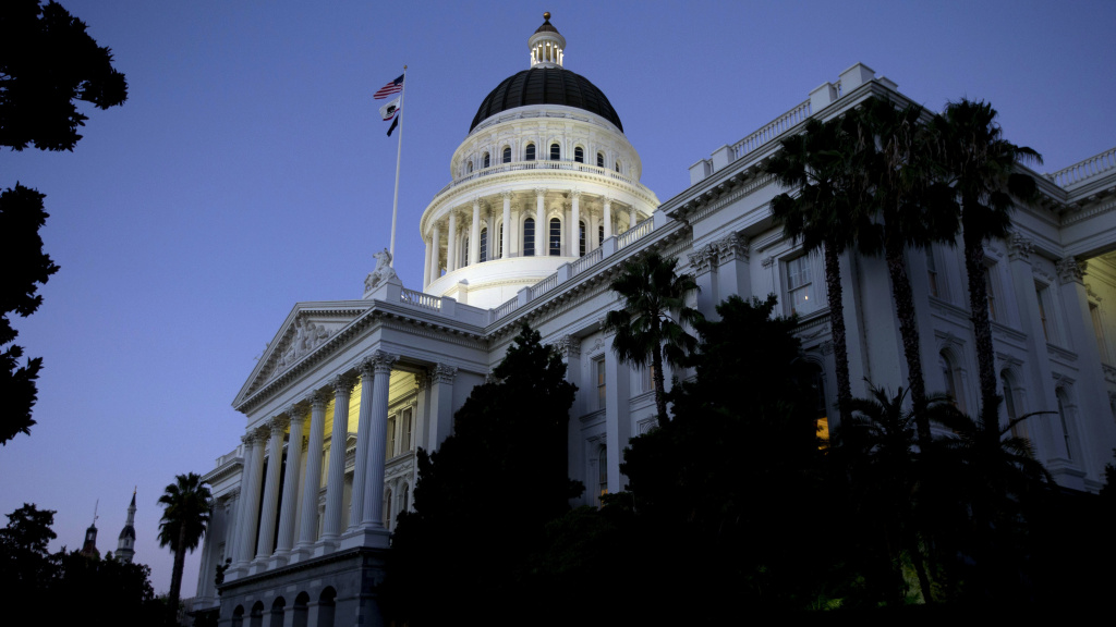 A 2016 file photo of the California state Capitol in Sacramento.