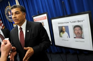Steven Martinez, Assistant Director of the FBI in Los Angeles, speaks to reporters on Dec. 14, 2010 in Los Angeles during a press conference after the 'Lost Boy' international child pornography ring was dismantled.