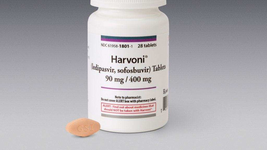 Harvoni is one of the new generation of highly effective, costly drugs for treating hepatitis C.