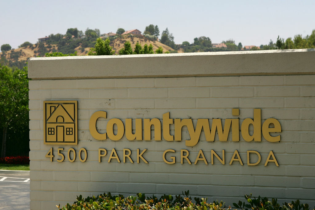 The Countrywide Financial headquarters is seen on July 18, 2008 in Calabasas, California. It was absorbed by Bank of America during the financial crisis.