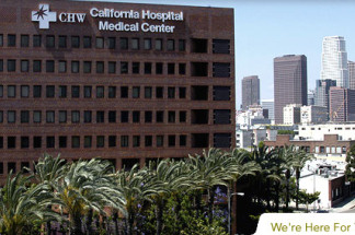 A view of California Hospital Medical Center in Los Angeles, Calif.