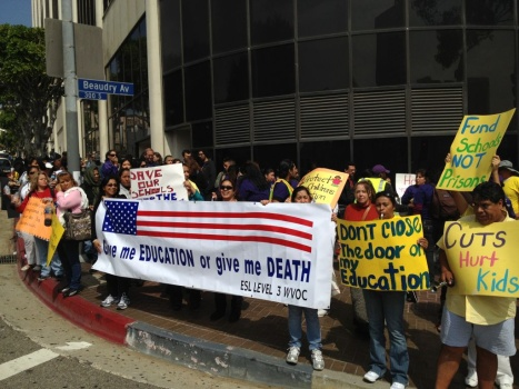 LAUSD board meeting protesters