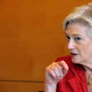 "IEA chief Maria van der Hoeven, seen in a 2011 photo, said that North American production has set off a ""supply shock that is sending ripples throughout the world."""