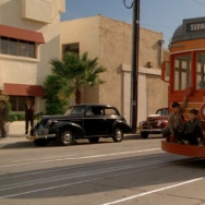 "A still of a Red Car from the 1988 film, ""Who Framed Roger Rabbit?"""