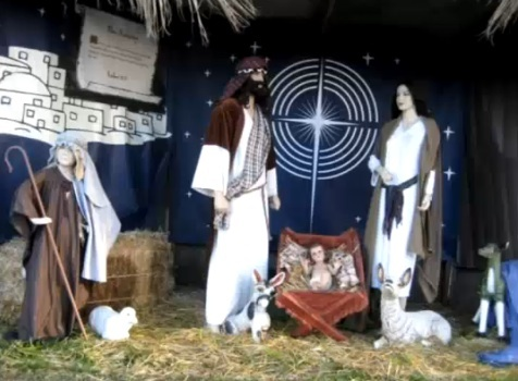 A nativity scene in Palisades Park.