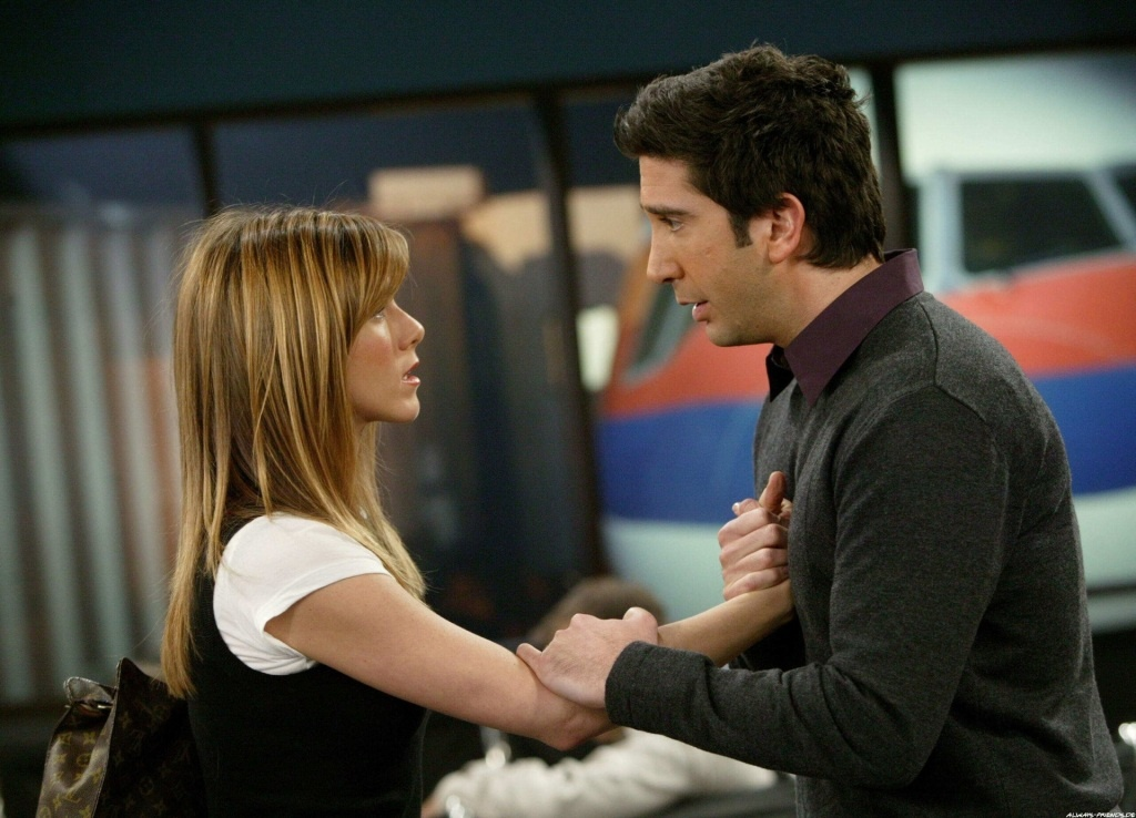Ross declares his love for Rachel in the airport terminal during the Friends' series finale...something that will now land you up to 18 months in prison and a $10,000 fine.