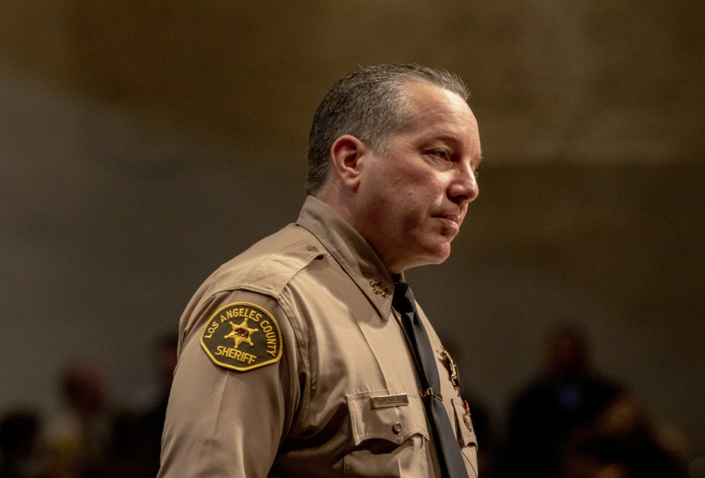 Los Angeles County Sheriff Alex Villanueva.