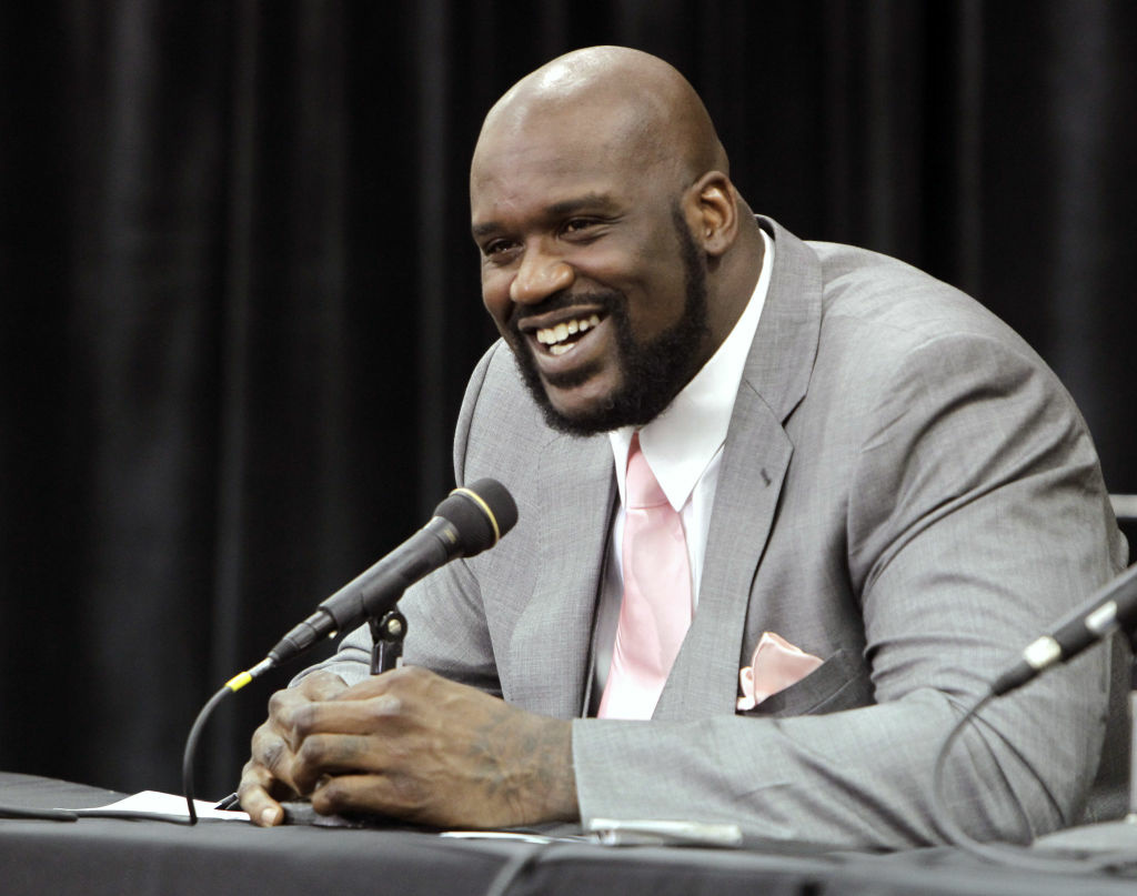 File photo of Shaquille O'Neal announcing his retirement from NBA basketball. O'Neal has endorsed L.A. City Attorney Carmen Trutanich for L.A. County district attorney.