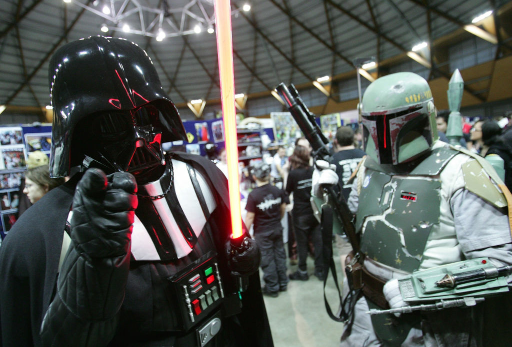 Cosplayers dress in Star Wars outfits pose for photos during the National Cosplay Championships as part of the Supanova Pop Culture Expo at the Dome at Olympic Park on June 19, 2010 in Sydney, Australia.
