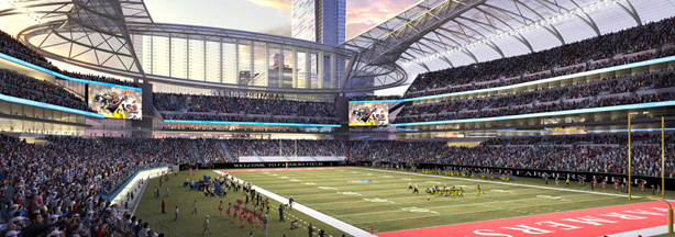 Rendering of proposed NFL stadium released by AEG.