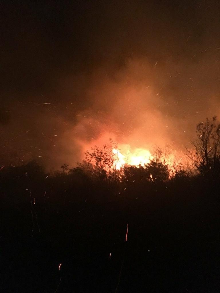 The Ken Fire burns near Devore on Saturday, September 3, 2016.