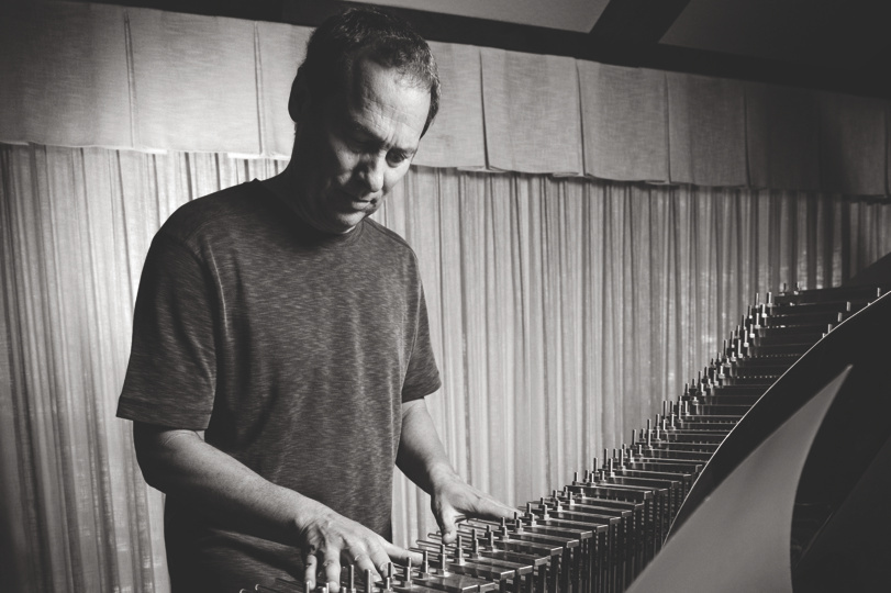 Composer Cliff Martinez plays a Crystal Baschet, an instrument he's used in his film scoring.