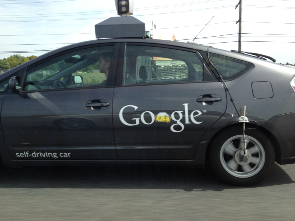 A Google self-driving car.