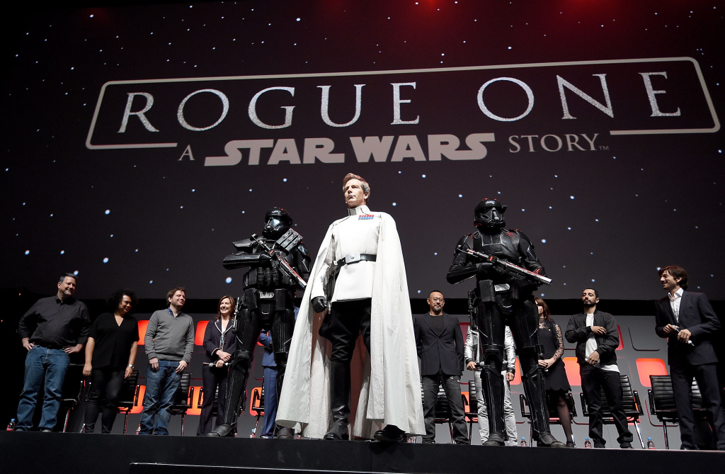 Ben Mendelsohn during the Rogue One panel at Star Wars Celebration 2016 at ExCel on July 15, 2016 in London, England.