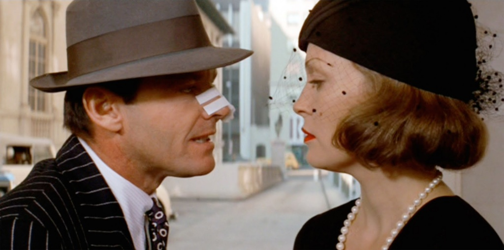 Jack Nicholsen and Faye Dunaway in a scene from