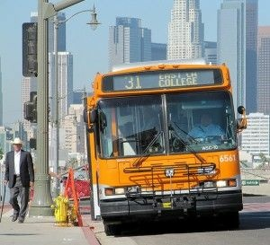A bus bound for East L.A. College, October 2009