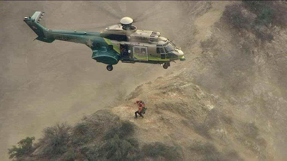 Courtesy of the LA County Sheriffs Department rescue at altitude