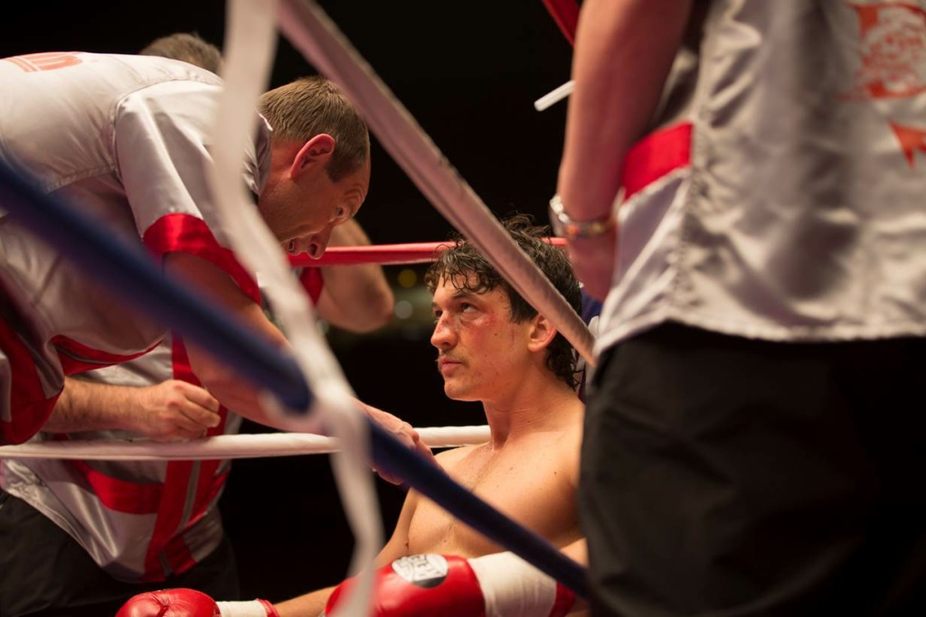 """Miles Teller and Aaron Eckhart star in the boxing drama """"Bleed For This."""""""