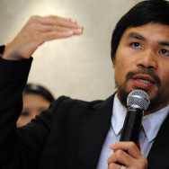 Philippine boxing icon Manny Pacquiao ge