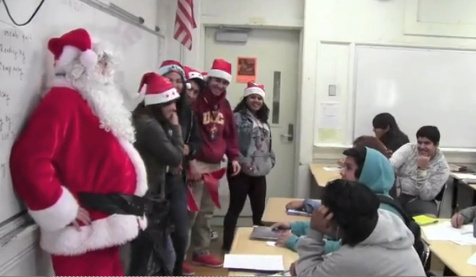 Roosevelt High School  students released a short video remaking The Twelve Days of Christmas.
