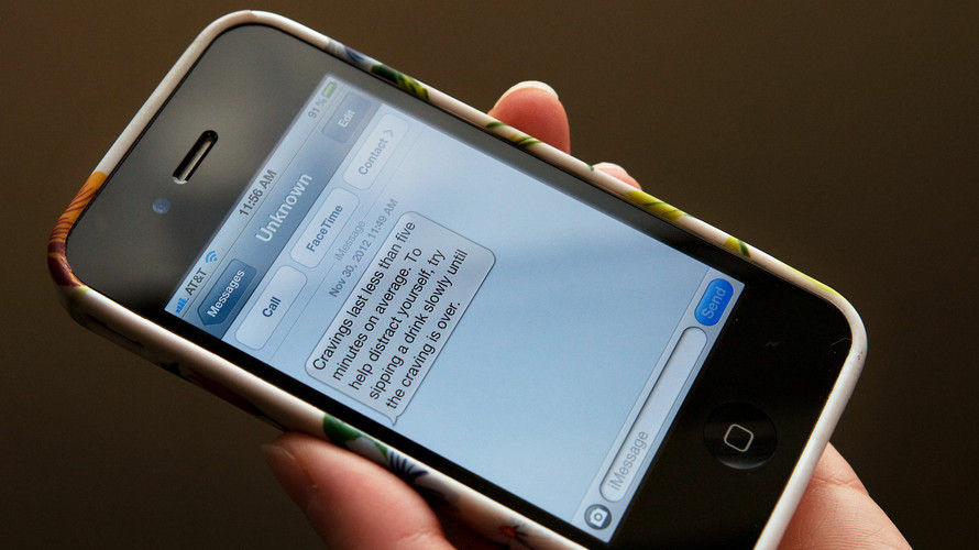 In the U.K.-based program called Txt2stop, researchers sent smokers encouraging text messages, like the one above, to help them quit.