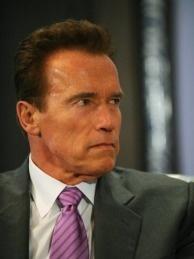 Outbound California governor Arnold Schwarzenegger on October 11, 2010.