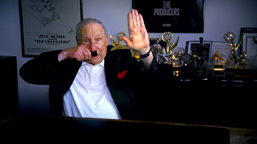 "Mel Brooks in Ferne Pearlstein's ""The Last Laugh."""