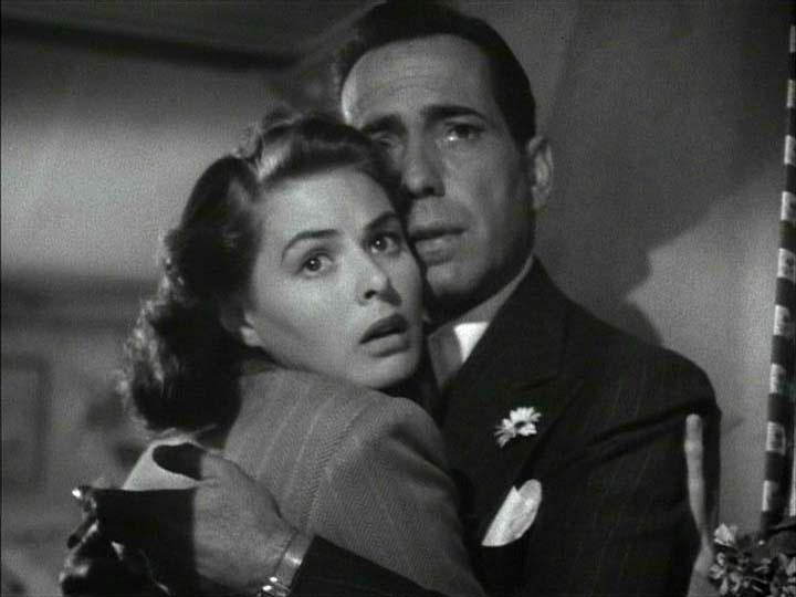 A screenshot from the classic film Casablanca.