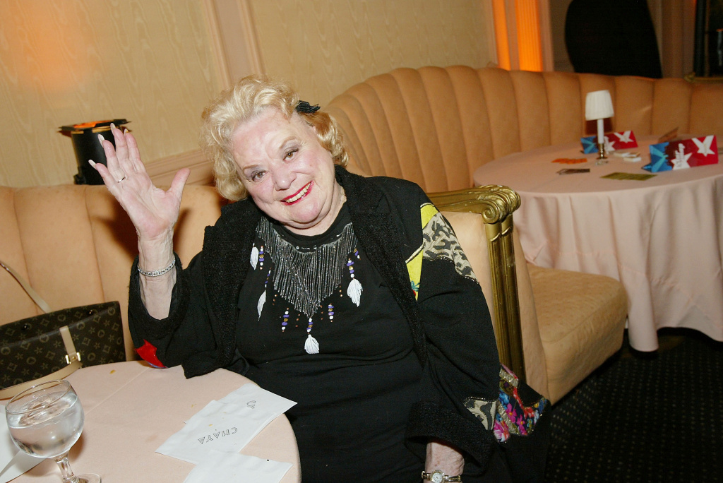 Actress Rose Marie poses at LA.COM's launch party on March 25, 2004 at Perino's, in Los Angeles, California.