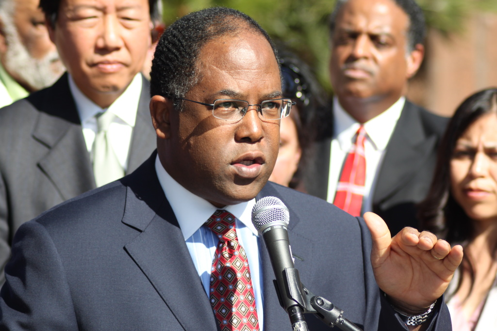Supervisor Mark Ridley-Thomas along with the four other Los Angeles County Board of Supervisors approved a plan Tuesday that would weaken the role of the County's chief executive officer.