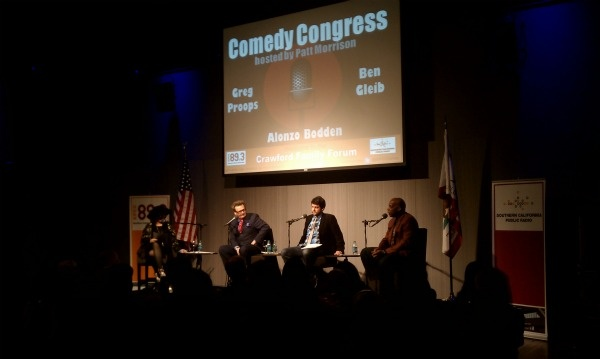 Patt hosts comedians Greg Proops, Ben Gleib, and Alonzo Bodden for the last Comedy Congress of 2011.