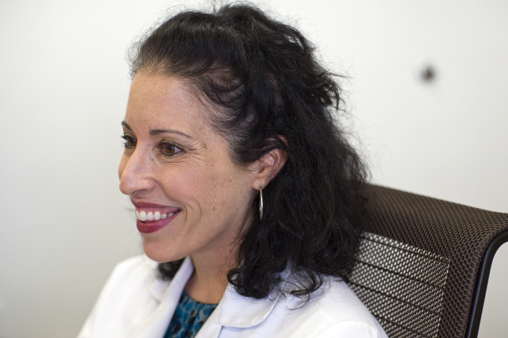 Dr. Andrea Ruman, a primary care provider at UCLA's Arthur Ashe Student Health & Wellness Center, holds two hormone-releasing IUD's: The Mirena, left, and the Skyla. Both work by slowly releasing a hormone that thickens cervical mucus and blocks sperm.