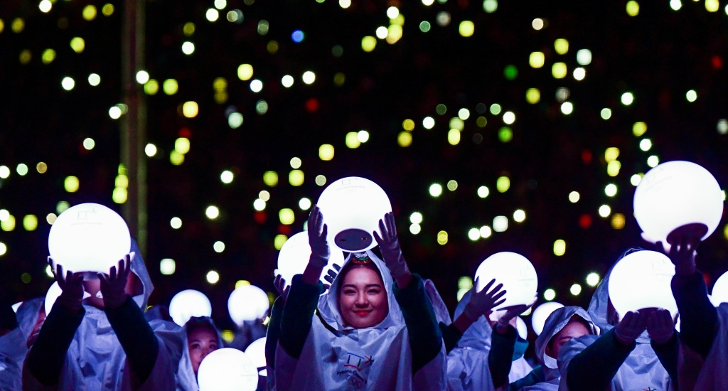 Artists perform during the Closing Ceremony of the Pyeongchang 2018 Winter Olympic Games on February 25, 2018 in Pyeongchang, South Korea.