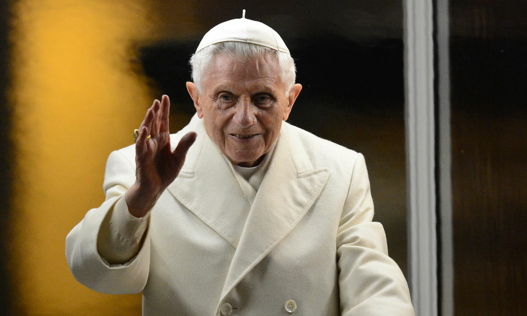 This file picture taken on December 31, 2012 shows Pope Benedict XVI arriving to pray in front of the nativity crib in Saint Peter's Square after celebrating the Vespers and Te Deum prayers in Saint Peter's Basilica at the Vatican. Pope Benedict XVI on February 11, 2013 announced he will resign on February 28, a Vatican spokesman told AFP, which will make him the first pope to do so in centuries.