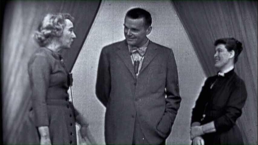 Arlene Francis (Left) hosts (Center) Charles Eames (Right) Ray Eames on her
