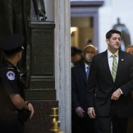 Speaker of the House Paul Ryan (R-WI) walks to the House floor for a procedural vote relating to the American Health Care Act, on Capitol Hill, March 24, 2017.