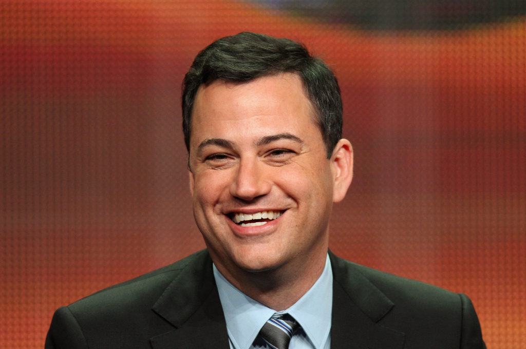 Host Jimmy Kimmel speaks onstage at the
