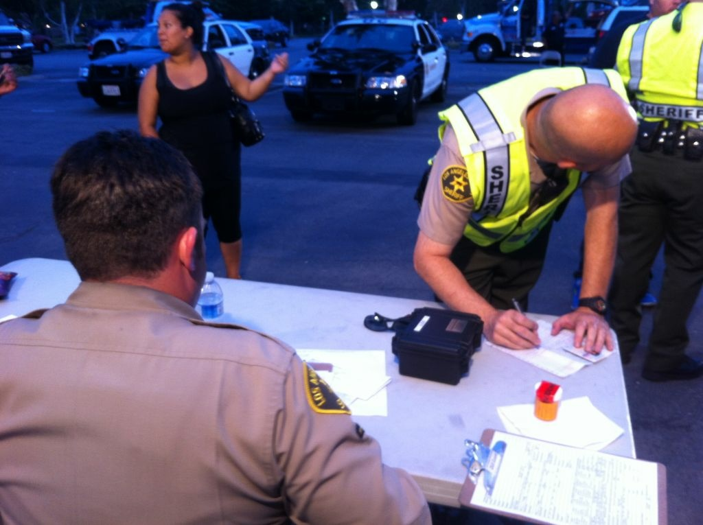 DUI checkpoints are mostly about paperwork.