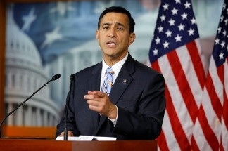 U.S. Rep. Darrell Issa speaks to the media during a news conference on Capitol Hill in Washington, DC.