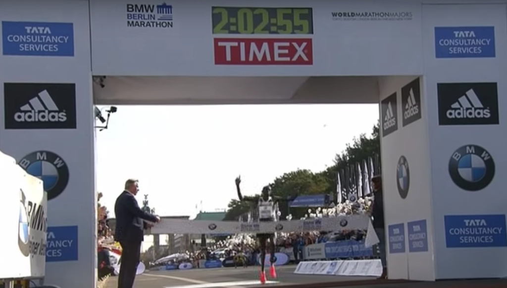 At the 2014 Berlin Marathon, Dennis Kimetto set the world record for the marathon at two hours, two minutes and 57 seconds.