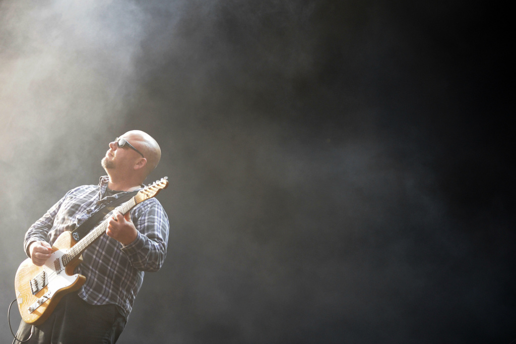 Black Francis (aka Frank Black), frontman of the Pixies, performs on stage at the 13th Hurricane Festival in Scheessel, northern Germany, on June 20, 2009.